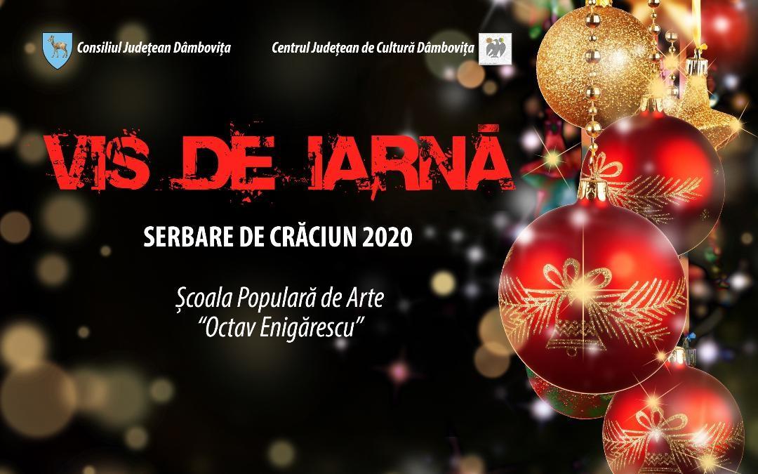 """Centrul Județean de Cultură Dâmbovița a organizat serbarea de Crăciun, susținută de cursanții Școlii Populare de Arte """"Octav Enigărescu""""."""