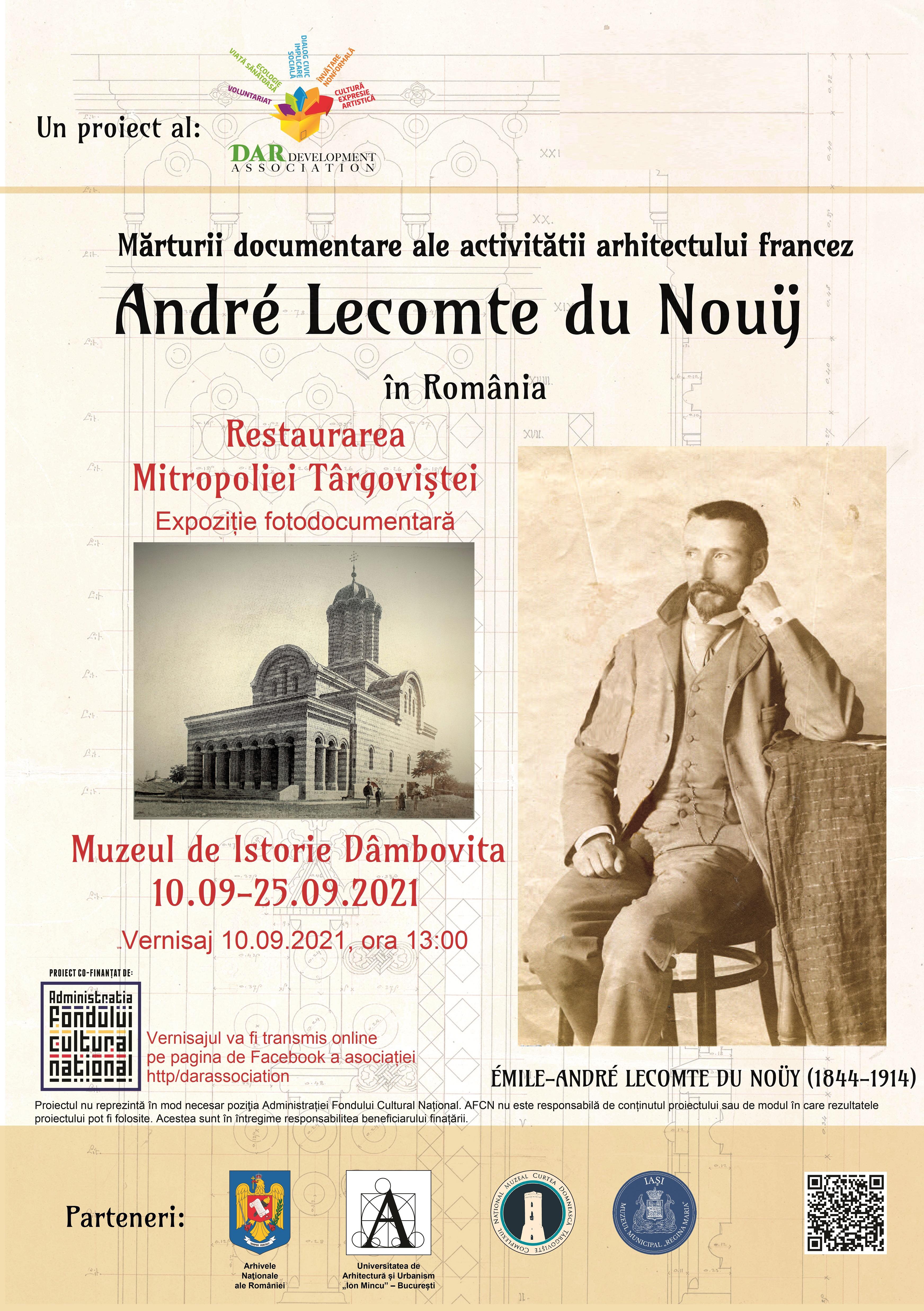 """Expoziția """"Mărturii documentare ale activității arhitectului francez  André Lecomte du Nouy în România"""""""