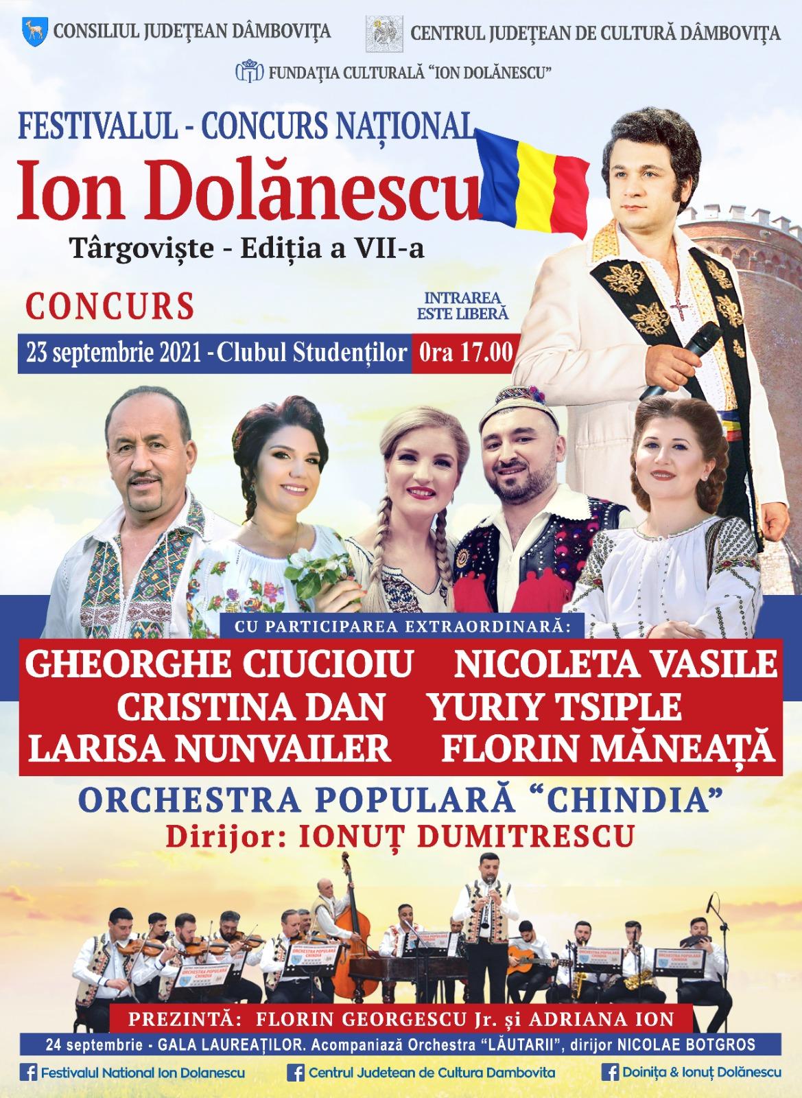 """Festivalul – Concurs Naţional """"Ion Dolănescu"""", ediția a VII-a"""