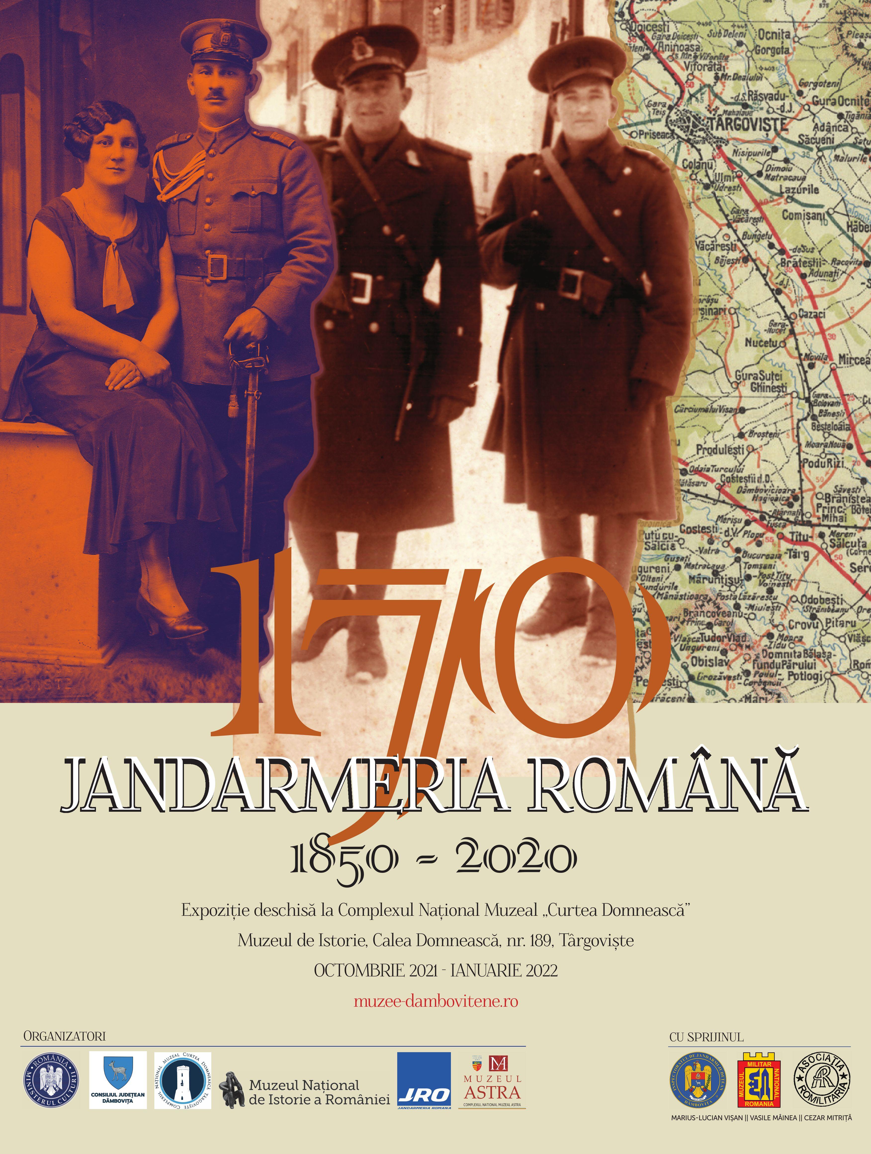 """La Complexul Național Muzeal """"Curtea Domnească"""" Târgoviște  se deschide expoziția """"Jandarmeria Română 1850 - 2020"""""""