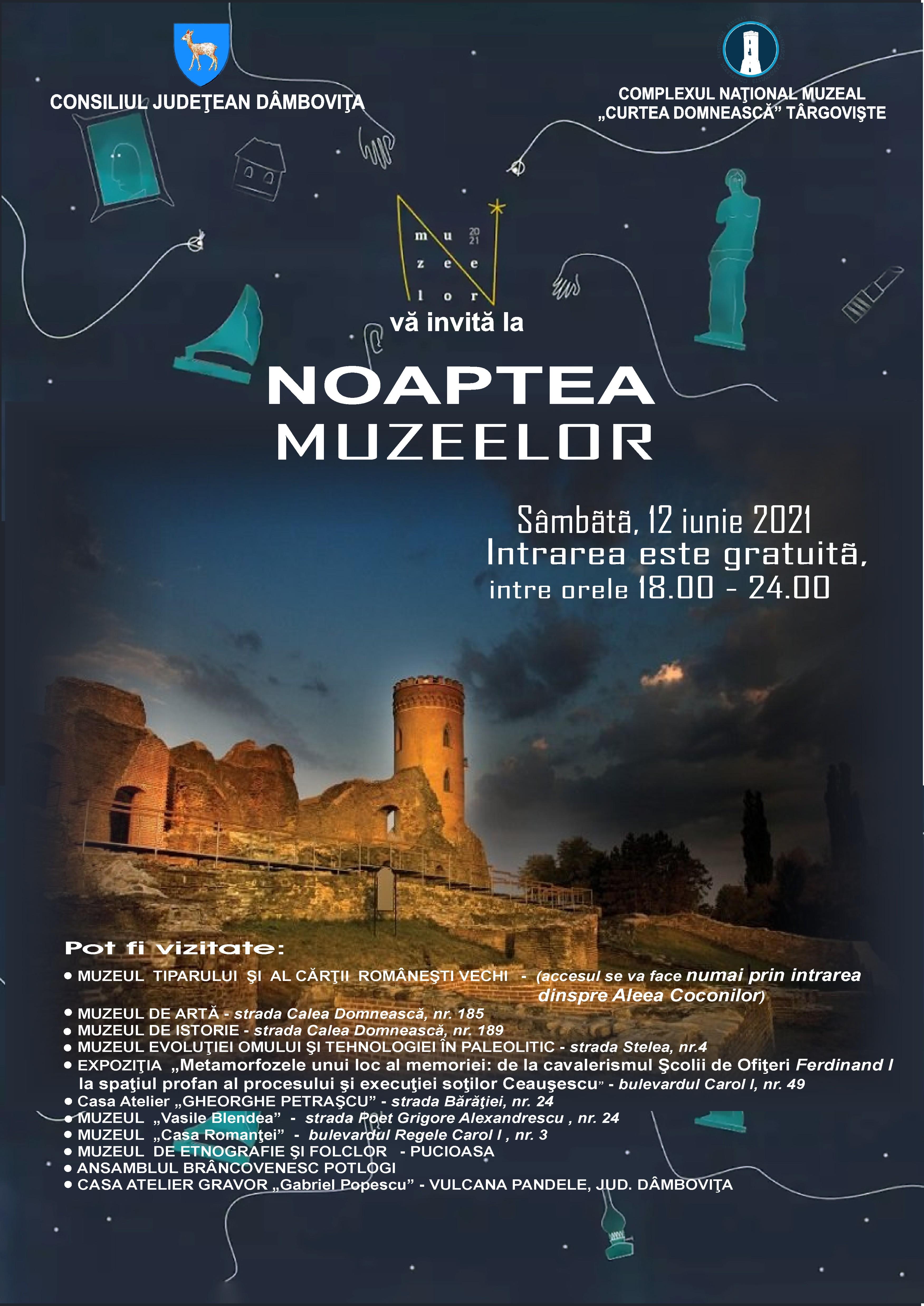 """""""Noaptea Muzeelor"""" în judeţul Dâmboviţa"""